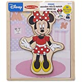 Melissa & Doug Disney Minnie Mouse Mix and Match Dress-Up Wooden Play Set (18 pcs)
