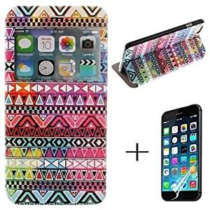 ZL Exquisite Color National Wind PU Leather Full Body Case with Screen Protector Cover for iPhone 6 Plus