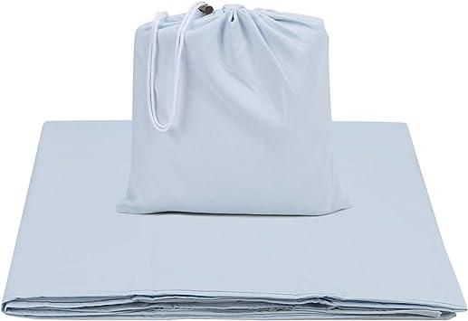 "Silver Sleep Pocket 43/"" X 92/"". Satin New for travel or sleeping bag"
