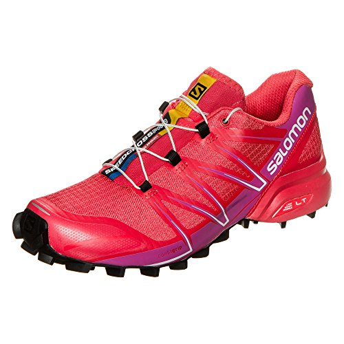 Salomon Speedcross Pro W, Zapatillas de Trail Running para Mujer, Rojo (Poppy Red/Rose Violet/Black), 36 EU