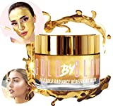 24K Gold Radiance Redefining Face Mask Collagen Hyaluronic Acid Vitamin A C E Caffeine Glycerin Replenishing Anti-Wrinkle Firming Soothing Moisturising Glowing Facial Treatment 100 ml | GOLD BY GLOW