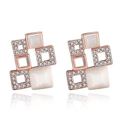 1/2 Ct Heart Cut Loose Diamond (Crystal Jewelry Cubic Zirconia Stud Earrings for Women Valentine's Day Dangle)