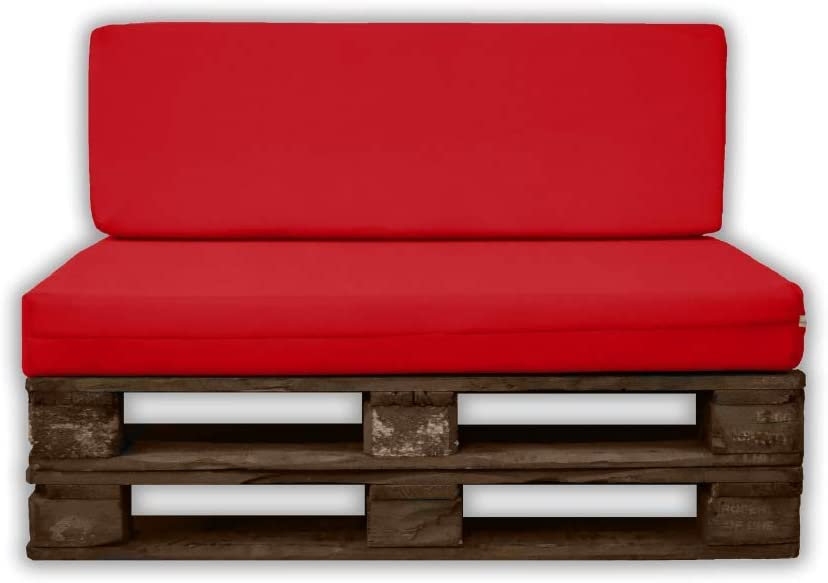 MICAMAMELLAMA Pack Asiento + Respaldo para Sofá de Palet Exterior ...