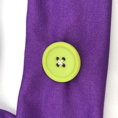 charts_DRESS Headbands with Buttons for Face Cover Holder,Non Slip Fitness Headband, One Size Fits All,Protect Your Ear for Sport,Daily Use: Home & Kitchen