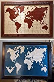 World Map Wedding Guest Book