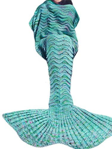 Kpblis;All Season Soft Mermaid Blankets for Children Audlt as Christmas or Birthday Gift 71″×35″(180×90cm)Blue