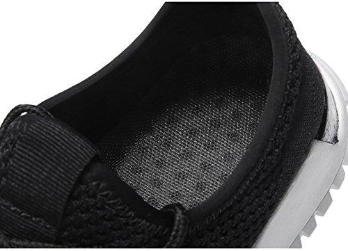 casual scarpe slip Bebete5858 marchio da uomo pelle estive confortevole moda vera traspirante uomo in morbido scarpe scarpe mesh Nero on estate qPYq0f