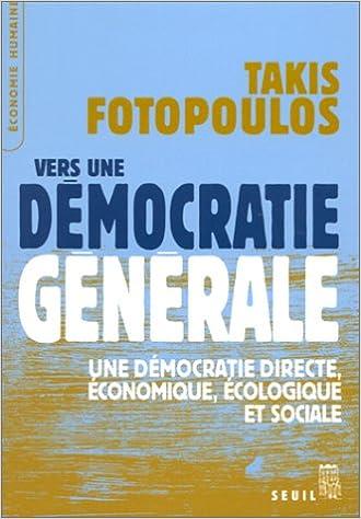 Livres gratuits Vers une démocratie générale pdf, epub ebook