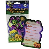Halloween Party Invitation with Envelope (Pack of 24) Halloween Party Invitation Supplies