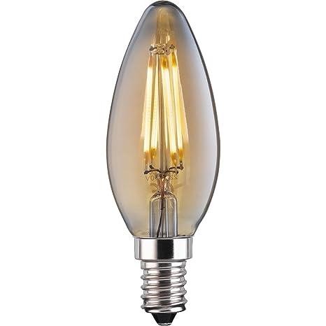 TCP - Bombilla de filamento LED vintage de 4 W, E14, 370 lúmenes,