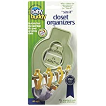 Baby Buddy Size-It Children/Baby Hanging Closet Organizer Dividers, Sage