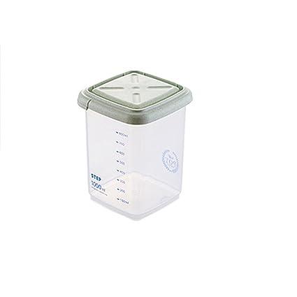 Portátil de plástico caja de almacenamiento de alimentos grano harina de cereales dispensador de arroz contenedor