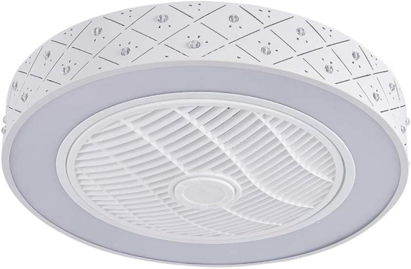 Z-XLIN Ventilador de techo exquisito, Nueva inteligentes modernos LED Ventilador de techo Luces de control remoto 55cm 110v 220v de la lámpara del ventilador for el dormitorio comedor Habitación Cuart