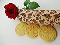 Embossing rolling pin ROSES WREATH. Wooden embossing rolling pin with roses. Wild rose. Summer flower. Floral rolling pin. Mother's Day gift