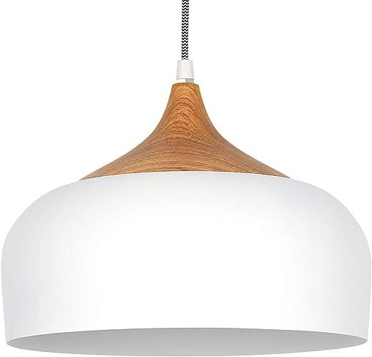 Tomons Lámpara Colgante LED Lámpara de techo Blanco Escandinavo Moderno Estilo para la Sala Comedor Restaurante: Amazon.es: Iluminación