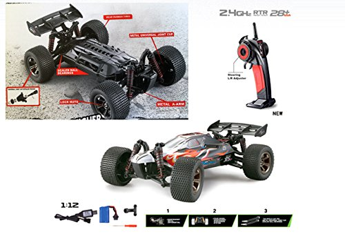 FMTStore 1/12 Scale Offroad High Speed Radio Remote Controlled Off-Road Buggy RC 2.4Ghz 2WD 20Mph+ Car Truck Buggy Crawler R/C (Color May Vary) ()