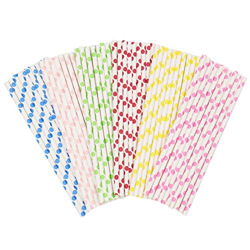 Biodegradable Bottle (Paper Drinking Straws, Biodegradable Paper Straws, for Christmas, Wedding, Birthday, Baby Shower and Parties,150 PCS)