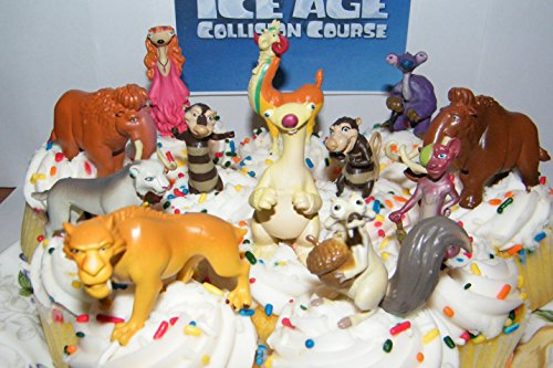 Diego Etc Manny Scat Ice Age Movies Cake Toppers Set of 13 Figures with Sid