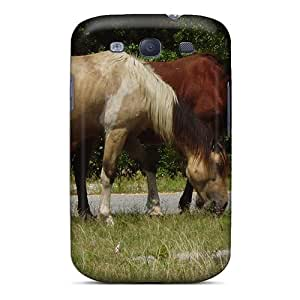 New Style Tpu S3 Protective Case Cover/ Galaxy Case - Wild Horses Grazing
