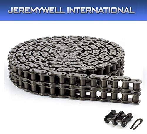 80-2R Double Strand Duplex Roller Chain 10 Feet with 1 Connecting Link ()