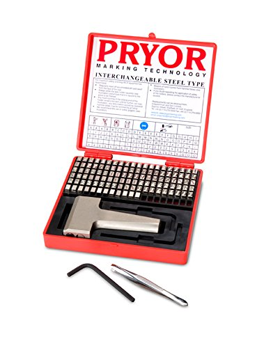 PRYOR TPFH025 Interchangeable Steel Type Fount Set, Complete with Hand Holder, 3/32'' Character Size, 2.5 mm by Pryor