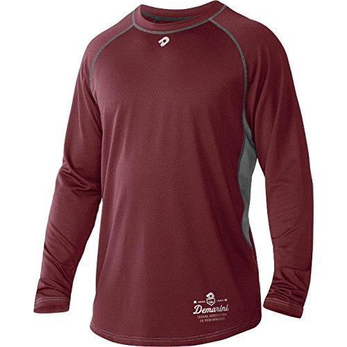 - DeMarini Men's Game Day Long Sleeve Shirt, Maroon, XX-Large