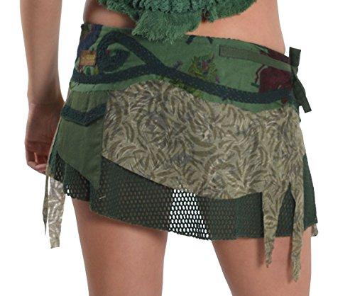Steampunk faldas, psytrance MINIFALDA, GEKKO falda, Pixie falda morado