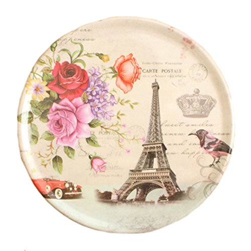4PCS RetroStyle Coasters Saucer Tray Cup Mats Plate Placemats, Tower
