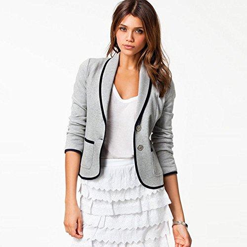 Slim pura Primavera Grigio Sille vestito stagione casual moda Cardigan paragrafo chiaro donne colore piccolo breve qz55nwdp