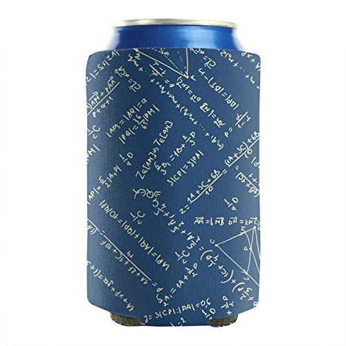 Set Of 2 Durable Collapsible Fully Stitched Insulated Bottles Holder Neoprene Beverage Coolers Fit 12 Oz Maths Equation Blue Backdrop Cold Drink Soda Water Beer Cans Cooler Sleeve]()
