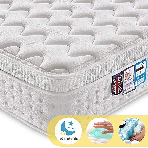 Ej. Life 4FT6 Double Pocket Sprung Mattress with Tencel Fabric -...