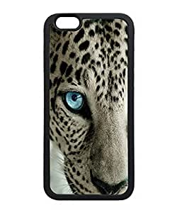 VUTTOO Iphone 6 Case, Snow Leopard Blue Eye TPU Case for Apple iPhone 6 4.7 Inch Black