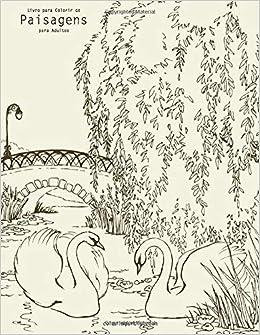 Livro Para Colorir De Paisagens Para Adultos 9781694967015