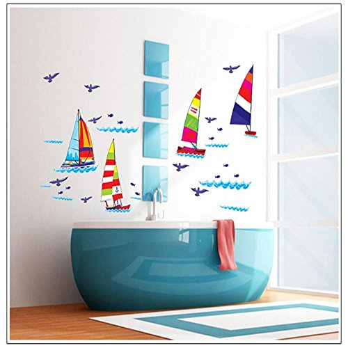 Sailboat Wall Decals Kids Boy Bedroom Baby Nursery Stickers Art Decor Room Decal by Wall Decals Kids Boy Bedroom Stickers