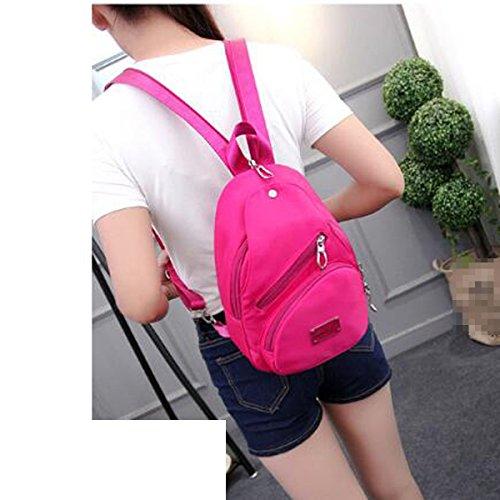 Unisex Función Moda Oxford Mochila Mochila De La Escuela Mochila De Viaje Multicolor Pink