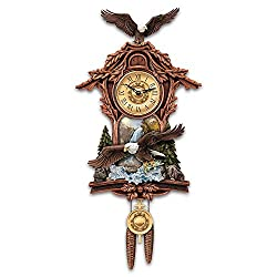 Moments Of Majesty Bald Eagle Handcrafted Cuckoo Clock by The Bradford Exchange