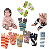 Lucky Staryuan Set of 6 Baby Leg Warmer Combed Cotton Cartoon Bear Knee Protectors
