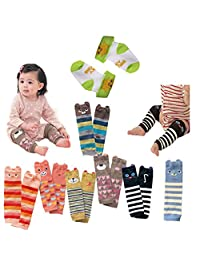 Luckystaryuan ® Black Friday Set of 6 Combed cotton Baby Leg Protector Warmer