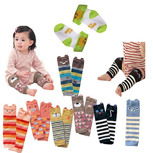 - Lucky Staryuan Set of 6 Baby Leg Warmer Combed Cotton Cartoon Bear Knee Protectors