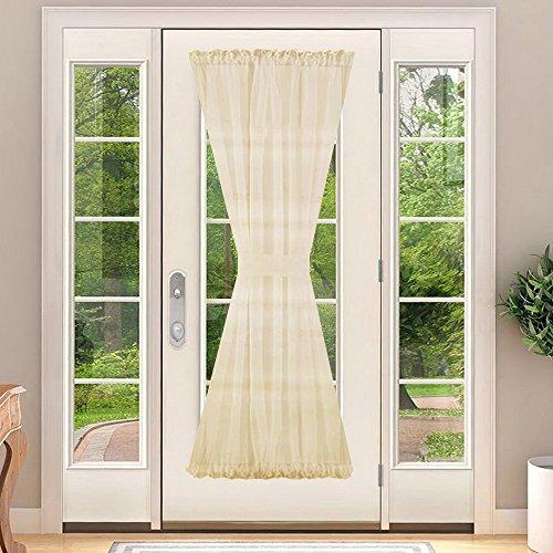 French Door Panel for Window - NICETOWN Elegant Soild Voile Patio Door Curtain Panel - One Piece With Bonus Tieback, 60