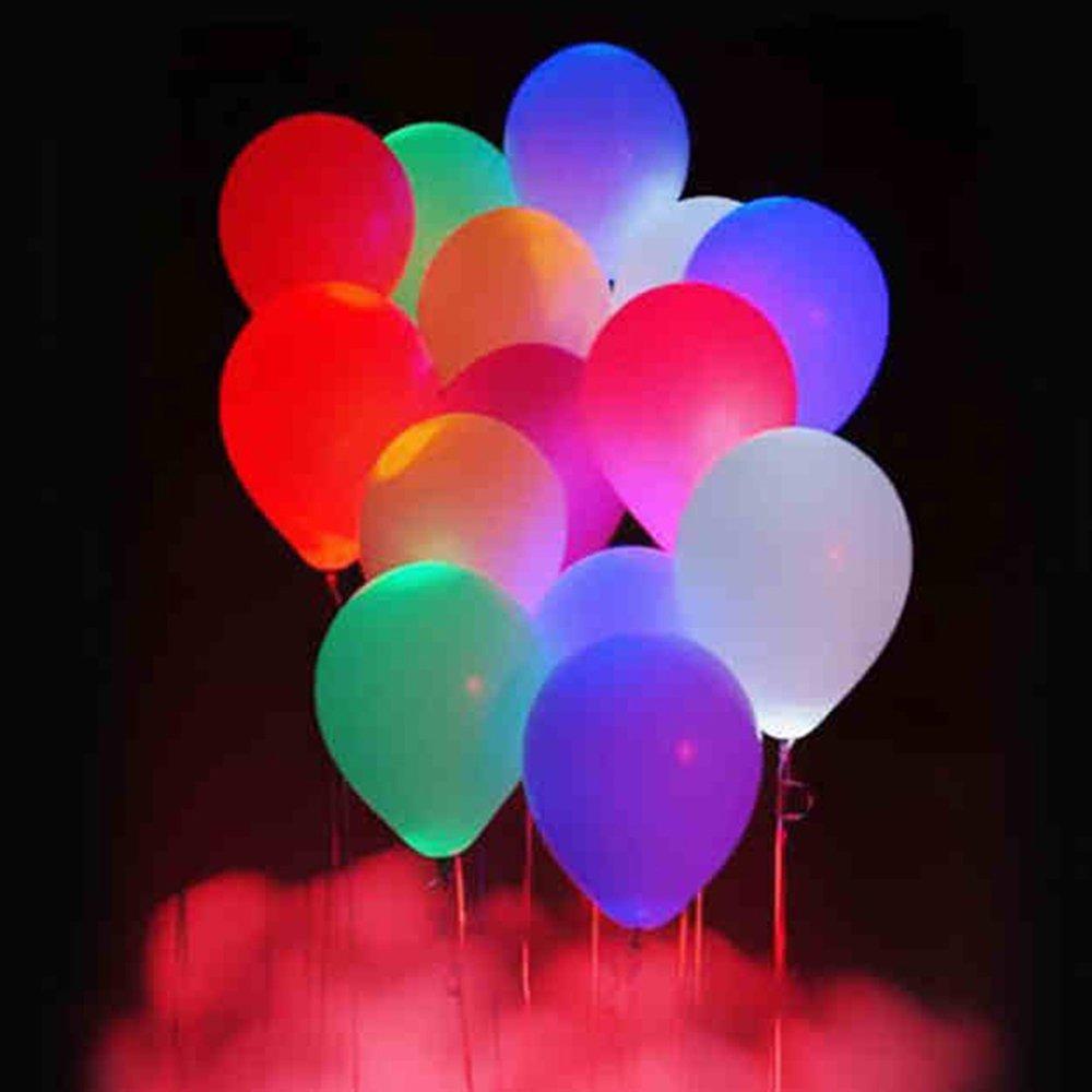 El LED enciende los globos con cintas, 40 globos de...