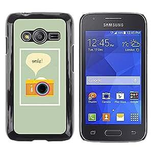 TopCaseStore / la caja del caucho duro de la cubierta de protección de la piel - Text Photo Photographer Yellow - Samsung Galaxy Ace 4 G313 SM-G313F