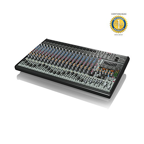 Behringer EURODESK SX2442FX Ultra-Low Noise Design 24-Input 4-Bus Studio/Live Mixer with 1 Year EverythingMusic Extended Warranty Free