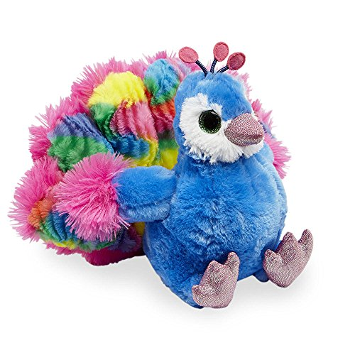 Show Off Peacock - Animal Alley - Stuffed Trendy Peacock (Appr 9 inch) - This Cuddly Peacock is Proud to Show off His Bright Colors at Playtime