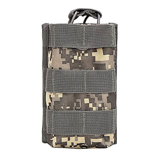 Kettle Bag - Sizet Tactical Molle Walkie Talkies Pouch Multi-functional Radio Case Radio Kettle Pouch Bag (ACU)