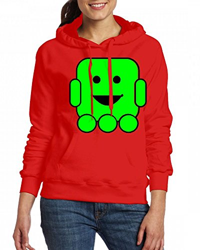 A Smiley Face Robot Womens Hoodie Fleece Custom Sweartshirts