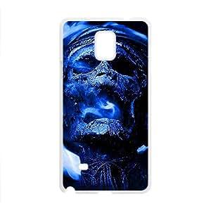 Blue Skull Custom Protective Hard Phone Cae For Samsung Galaxy Note4