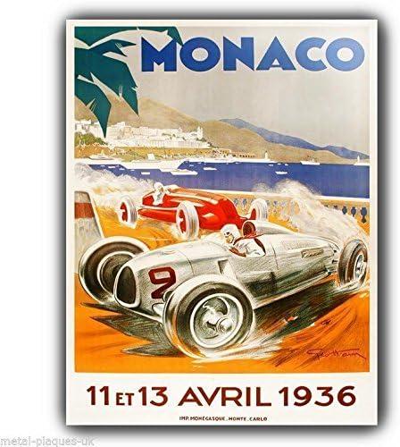 MONOCO Plaque Retro Art  printed metal sign vintage sign tin