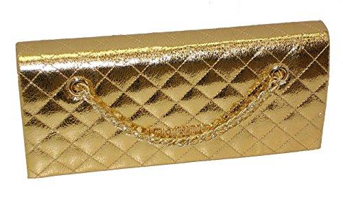 Borsa Love Moschino pochette SHOULDER BAG JC4106 woman laminato pu GOLD