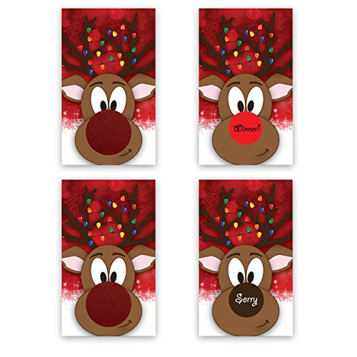 Rudolph the Reindeer Christmas Scratch Off Game Card - 25 pack - My Scratch Offs